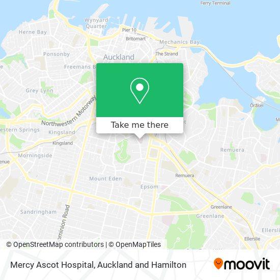 Mercy Ascot Hospital map