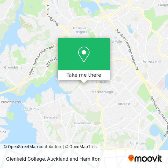 Glenfield College map