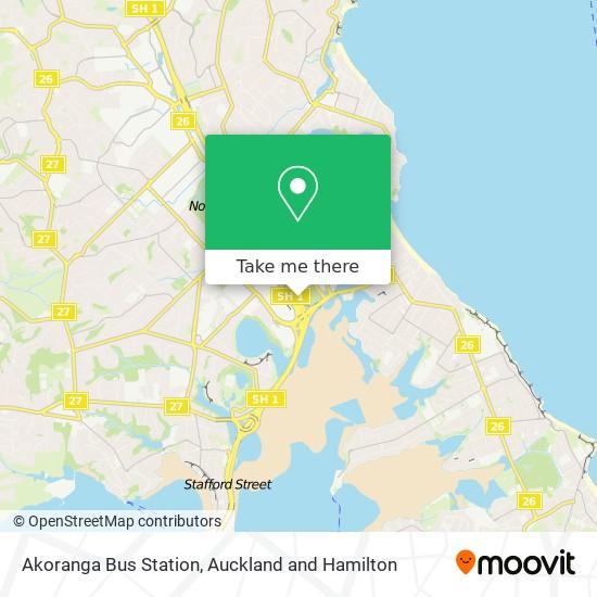 Akoranga Bus Station map
