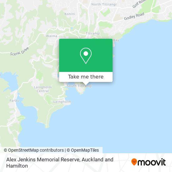Alex Jenkins Memorial Reserve map