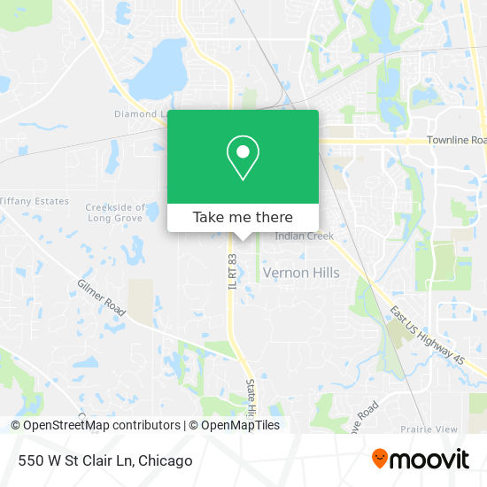 550 W St Clair Ln mapa