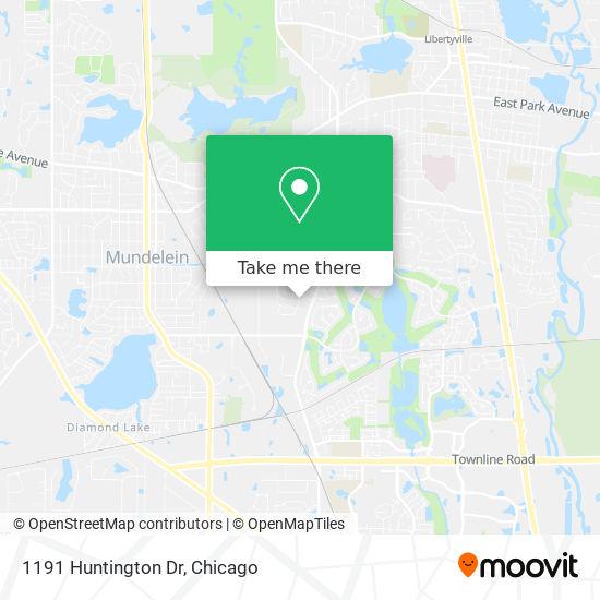 Mapa de 1191 Huntington Dr