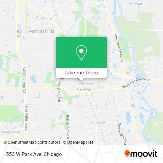 Mapa de 553 W Park Ave