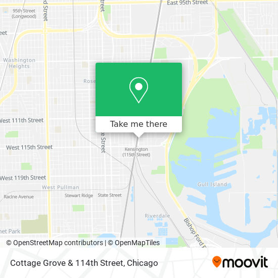 Cottage Grove & 114th Street map