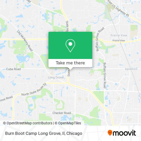 Mapa de Burn Boot Camp Long Grove, Il