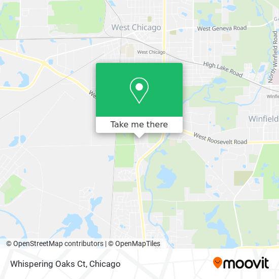 Whispering Oaks Ct map
