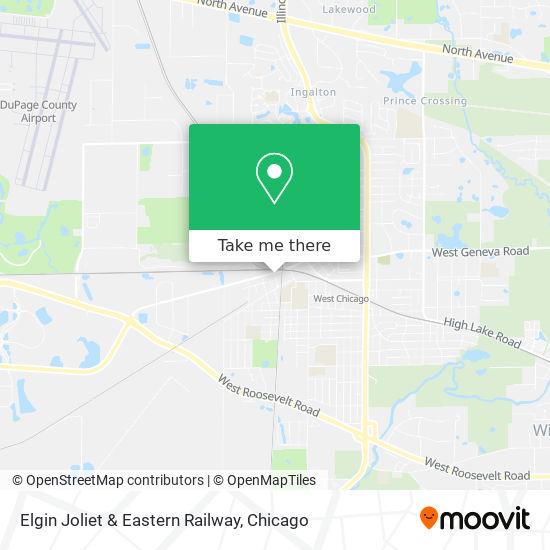 Mapa de Elgin Joliet & Eastern Railway