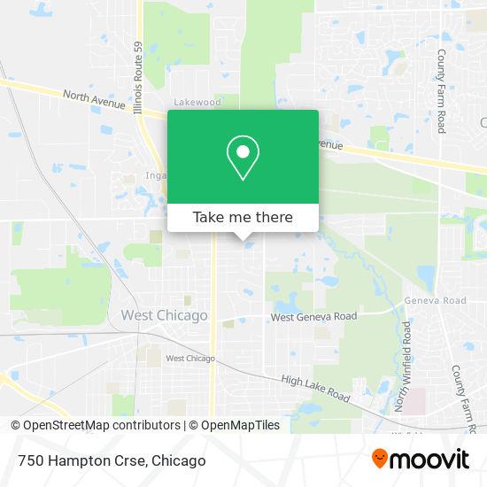 750 Hampton Crse mapa