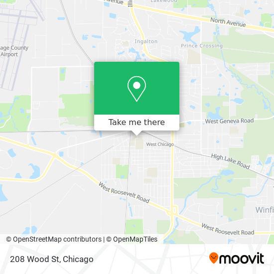 Mapa de 208 Wood St