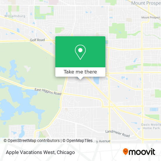 Apple Vacations West map