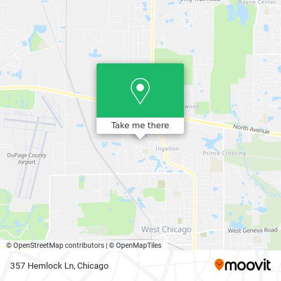 Mapa de 357 Hemlock Ln