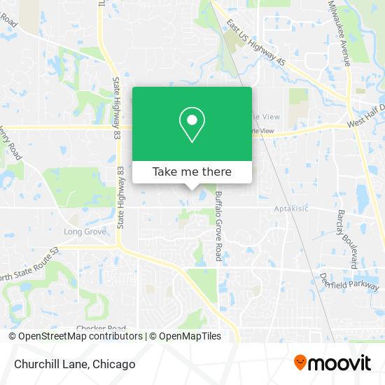 Mapa de Churchill Lane