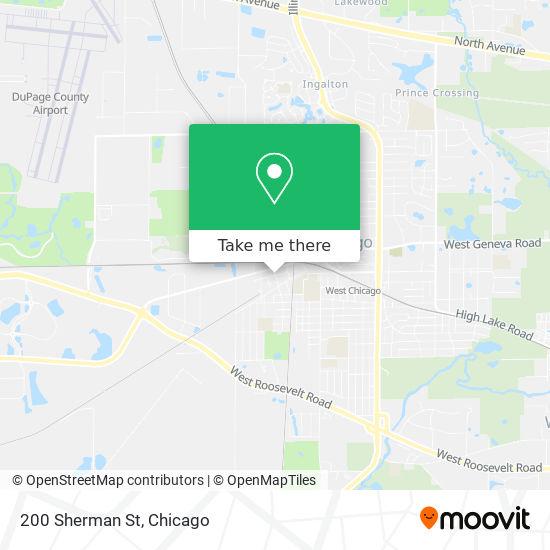 Mapa de 200 Sherman St