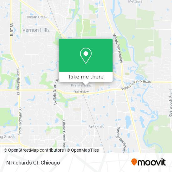 Mapa de N Richards Ct