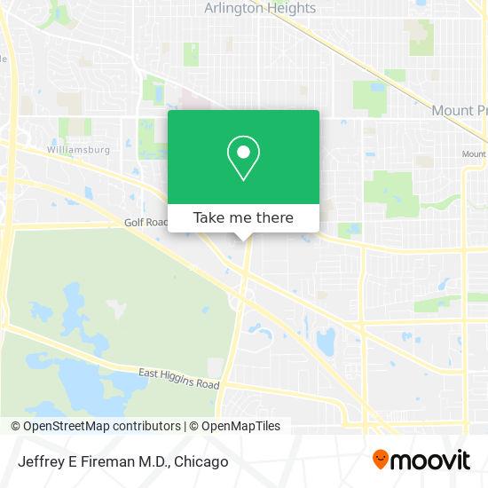 Mapa de Jeffrey E Fireman M.D.