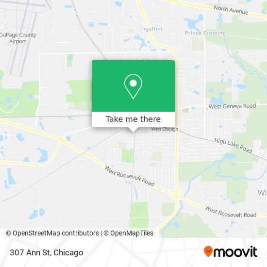 Mapa de 307 Ann St