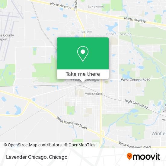 Lavender Chicago map