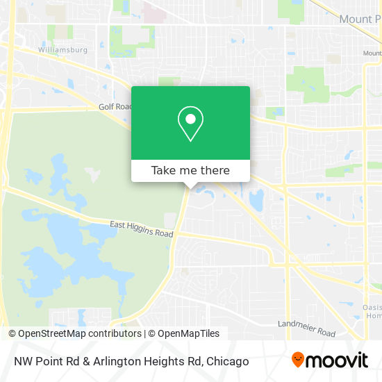 NW Point Rd & Arlington Heights Rd地图