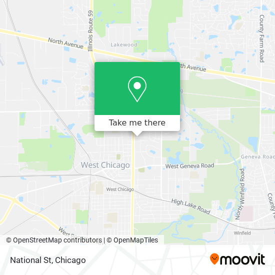 National St mapa
