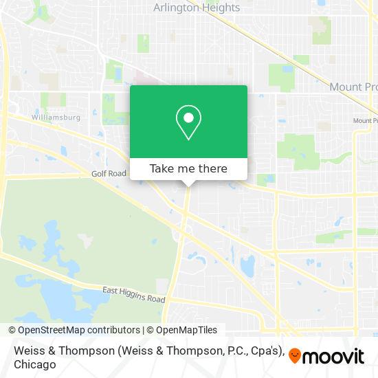 Mapa de Weiss & Thompson (Weiss & Thompson, P.C., Cpa's)