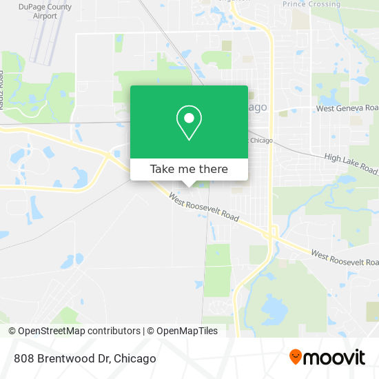 808 Brentwood Dr map