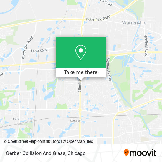 Mapa de Gerber Collision And Glass