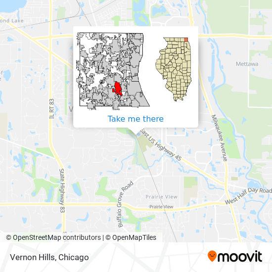 Vernon Hills map