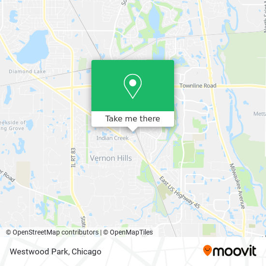Westwood Park map