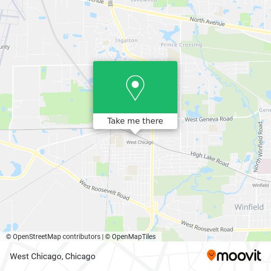 West Chicago mapa