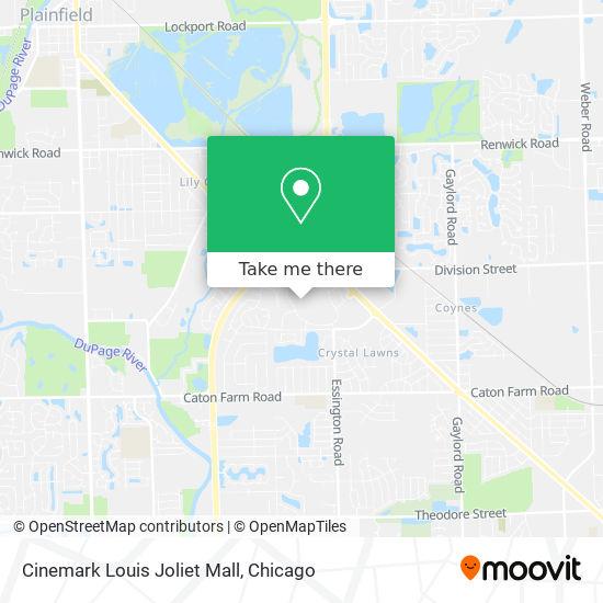 Cinemark Louis Joliet Mall地图