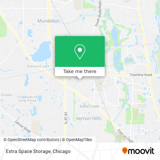 Extra Space Storage map