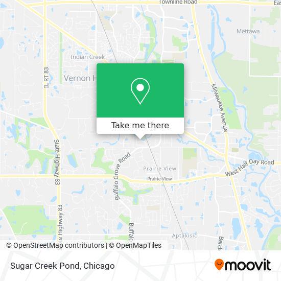 Sugar Creek Pond map