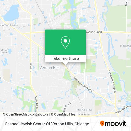 Chabad Jewish Center Of Vernon Hills map