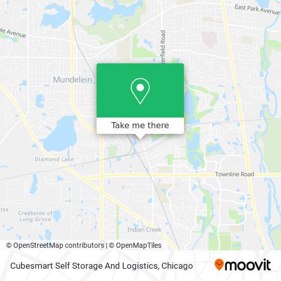 Cubesmart Self Storage And Logistics map