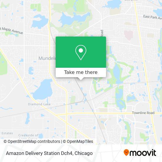 Mapa de Amazon Delivery Station Dch4