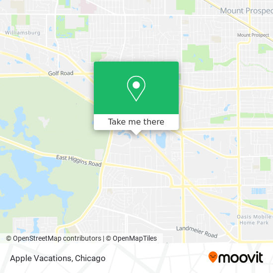 Apple Vacations map