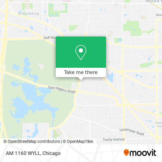 AM 1160 WYLL地图