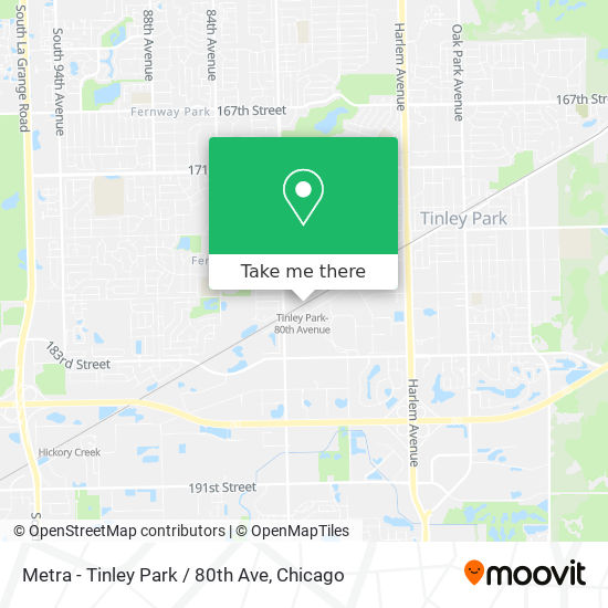 Metra - Tinley Park / 80th Ave map