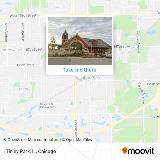 Tinley Park, IL map