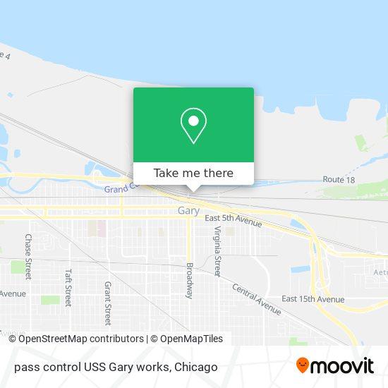 pass control USS Gary works地图
