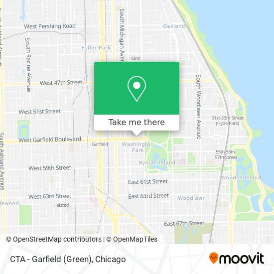 CTA - Garfield (Green) map