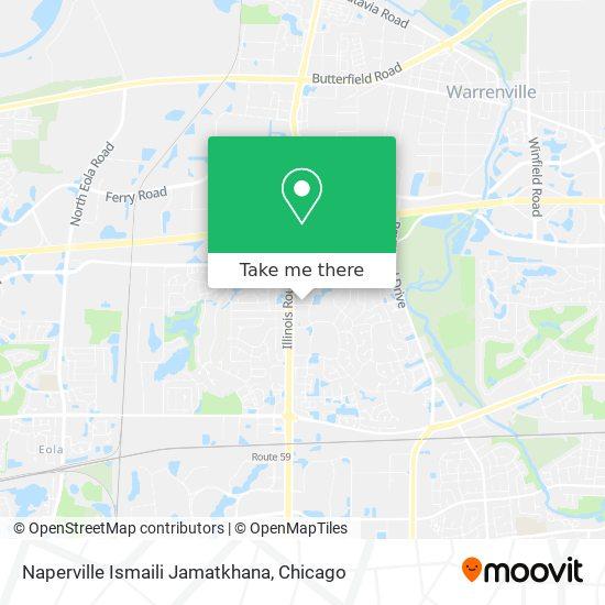 Mapa de Naperville Ismaili Jamatkhana
