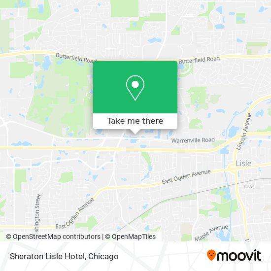 Sheraton Lisle Hotel plan