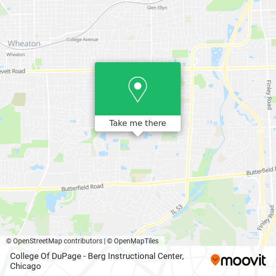 College Of DuPage - Berg Instructional Center plan