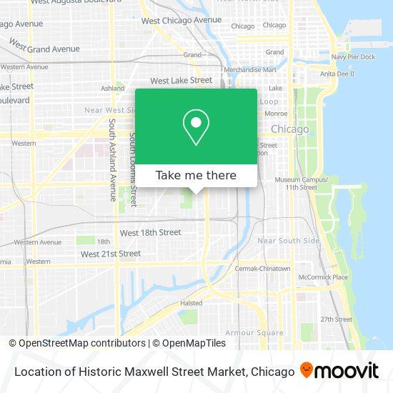 Location of Historic Maxwell Street Market map