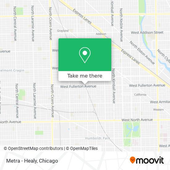Metra - Healy map