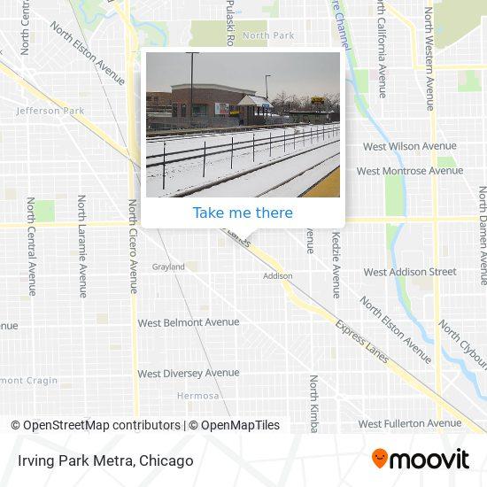 Irving Park Metra map