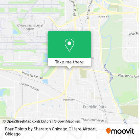 Four Points by Sheraton Chicago O'Hare Airport map