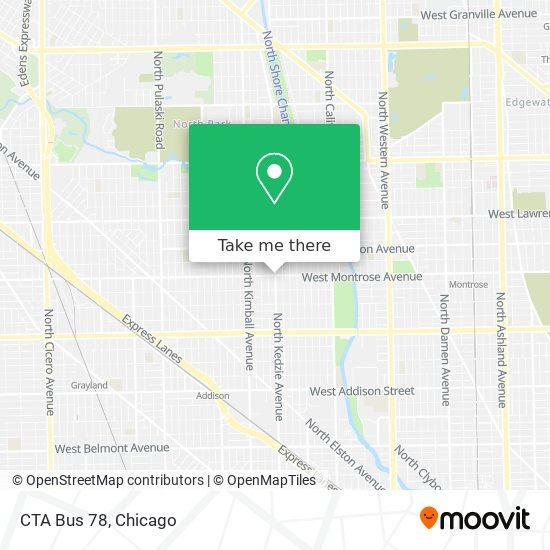 CTA Bus 78 map
