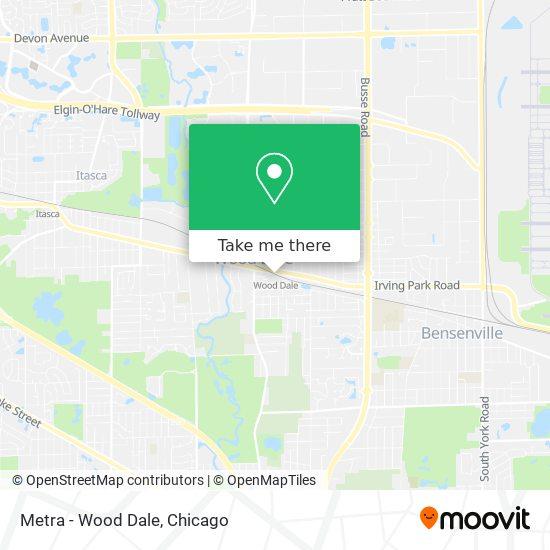 Metra - Wood Dale map
